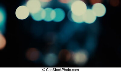bokeh of a flashing light - Bokeh of flashing multicolored...