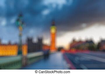 Big Ben at dusk, London