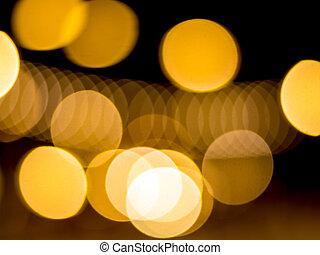 Bokeh of lighting in night time as background