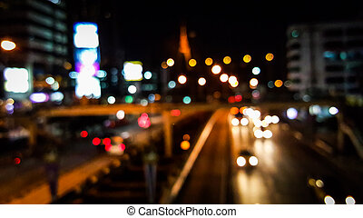 Bokeh of traffic city