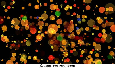 Bokeh of yellow and orange lights