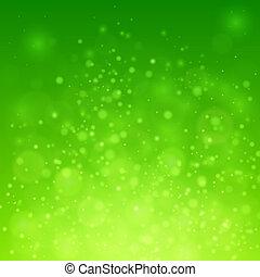 Bokeh on green background - Bokeh on green vector background