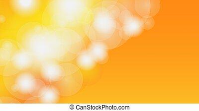 bokeh, orange., barbouillage, résumé