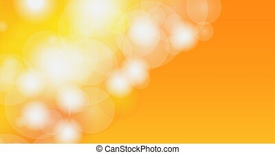 bokeh, orange., mancha, resumen