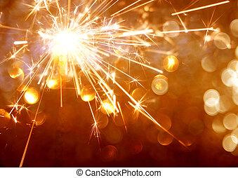 bokeh, plano de fondo, sparkler