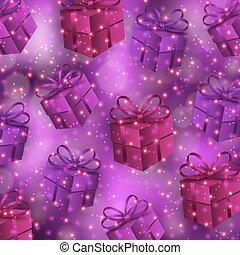 bokeh, presentes, fundo, festivo