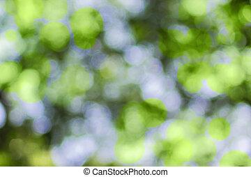 bokeh, résumé vert, fond, barbouillage