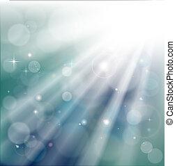 bokeh, rayons légers, fond