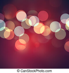 Abstract red background with bokeh effect