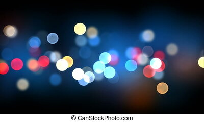 Bokeh Seamless Background Animation on Black. Colorful...