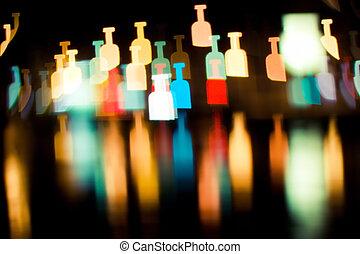 bokeh series - bottles