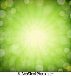 bokeh, sfondo verde