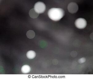 bokeh, su, sfondo nero