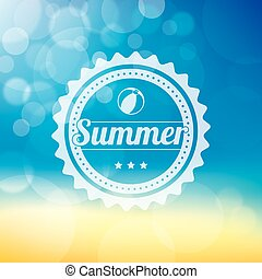 Bokeh Summer Background - A Summer themed background with a...