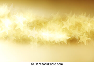 bokeh, tło, złoty, gwiazda