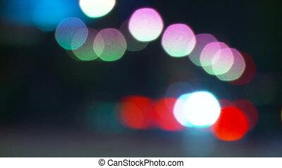 Bokeh Traffic Lights Time-lapse