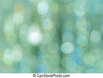 bokeh, turquoise, fond