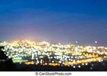 bokeh, Város, Éjszaka