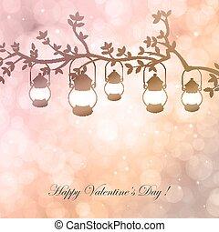 Bokeh Valentine day background