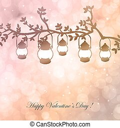 Bokeh Valentine day background