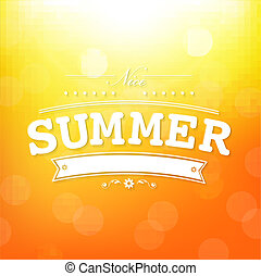 bokeh, verão, cartaz