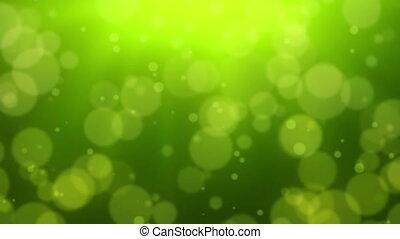 bokeh, vert, point, fond
