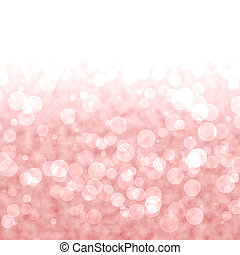Bokeh Vibrant Red Or Pink Background With Blurry Lights -...