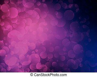 bokeh, violet, fond, briller