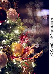 bokeh, weihnachten, hintergrund