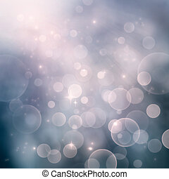 Bokeh winter Christmas holiday background - Festive winter...