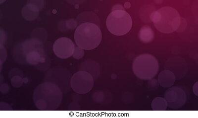 Bokeh with purple circles