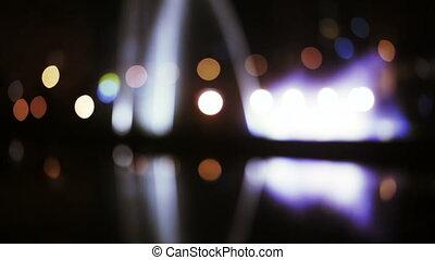 Bokehs fontains night
