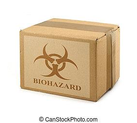 boks, #2, symbol, biohazard, tektura