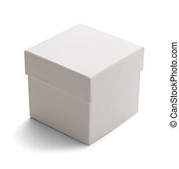 boks, biały