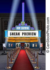 boks, film bilet, teatr, &
