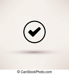 boks, illustration., odizolowany, wektor, czek, ikona