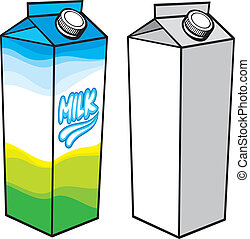 boks, karton, mleczny