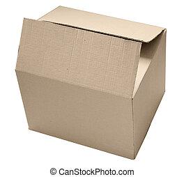 boks, karton, odizolowany