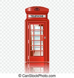 boks, londyn, telefon, czerwony