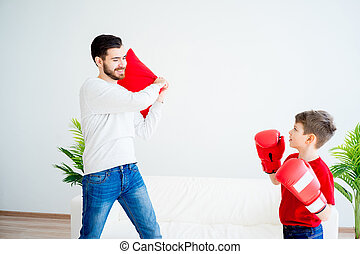 boks, ojciec, syn