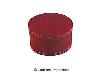 boks, okrągły, czerwony