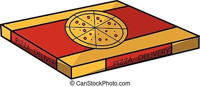 boks, pizza
