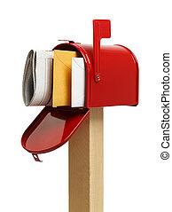 boks, poczta, czerwony