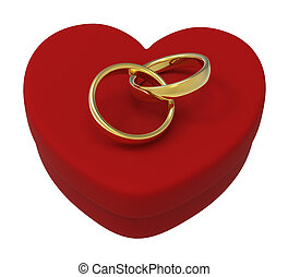 boks, serce, pokaz, zaręczynowe koliska, małżeństwo, ślub