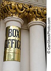 boks, teatr, biuro, znak
