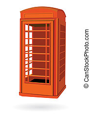 boks, telefon, londyn, czerwony