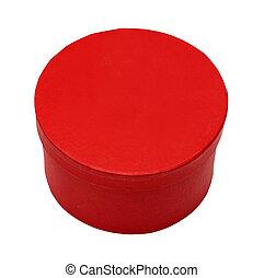boks zamykają, czerwony, okrągły