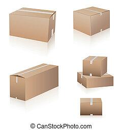 bokse, forsendelse, samling