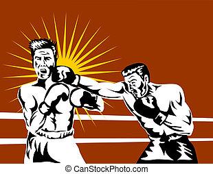 bokser, het verbinden