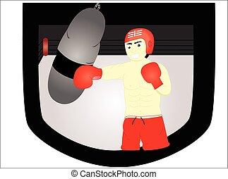 bokser, man